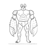 How to Draw Crablante from One-Punch Man