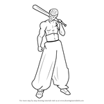 How to Draw Metal Bat from One-Punch Man
