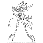 How to Draw Mosquito Girl from One-Punch Man