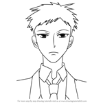 How to Draw Mori from Ouran High School Host Club