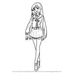 How to Draw Mahiru Hiragi from Owari no Seraph