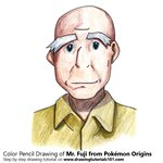 How to Draw Mr. Fuji from Pokémon Origins