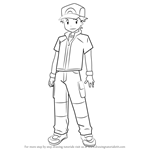How to Draw Red from Pokémon Origins