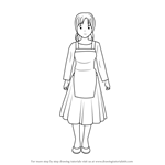 How to Draw Red's mother from Pokémon Origins