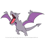 How to Draw Aerodactyl from Pokemon