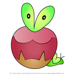How to Draw Applin from Pokemon