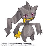 How to Draw Banette from Pokemon