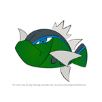 How to Draw Basculin from Pokemon