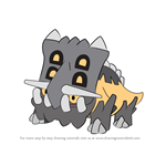 How to Draw Bastiodon from Pokemon