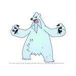 How to Draw Beartic from Pokemon