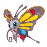 How to Draw Beautifly from Pokemon