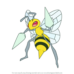 How to Draw Beedrill from Pokemon