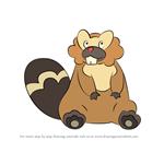 How to Draw Bibarel from Pokemon