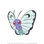 How to Draw Butterfree from Pokemon