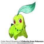 How to Draw Chikorita from Pokemon