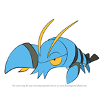 How to Draw Clauncher from Pokemon
