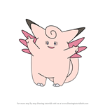 How to Draw Clefable from Pokemon
