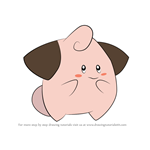 How to Draw Cleffa from Pokemon