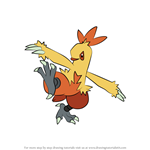 How to Draw Combusken from Pokemon