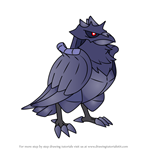 How to Draw Corviknight from Pokemon