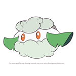How to Draw Cottonee from Pokemon