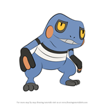 How to Draw Croagunk from Pokemon