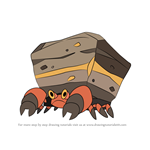 How to Draw Crustle from Pokemon