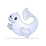 How to Draw Dewgong from Pokemon