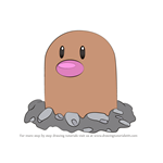 How to Draw Diglett from Pokemon