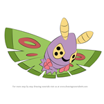 How to Draw Dustox from Pokemon