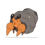 How to Draw Dwebble from Pokemon