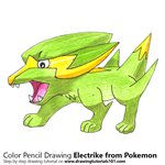 How to Draw Electrike from Pokemon