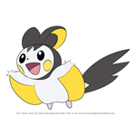 How to Draw Emolga from Pokemon