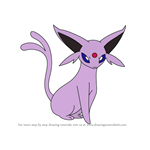 How to Draw Espeon from Pokemon