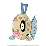 How to Draw Feebas from Pokemon