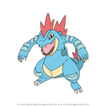 How to Draw Feraligatr from Pokemon