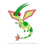 How to Draw Flygon from Pokemon
