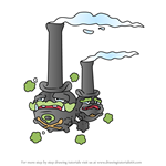 How to Draw Galarian Weezing from Pokemon