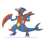 How to Draw Garchomp from Pokemon