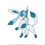 How to Draw Glaceon from Pokemon
