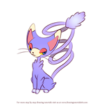 How to Draw Glameow from Pokemon
