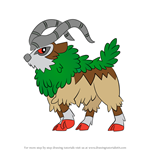 How to Draw Gogoat from Pokemon