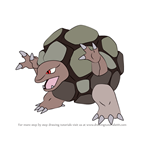 How to Draw Golem from Pokemon