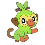 How to Draw Grookey from Pokemon