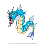 How to Draw Gyarados from Pokemon