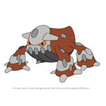 How to Draw Heatran from Pokemon