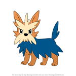 How to Draw Herdier from Pokemon