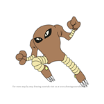 How to Draw Hitmonlee from Pokemon