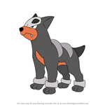 How to Draw Houndour from Pokemon