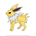 How to Draw Jolteon from Pokemon